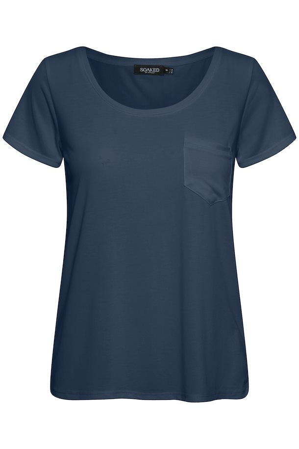 Soaked In Luxury Navy Tee