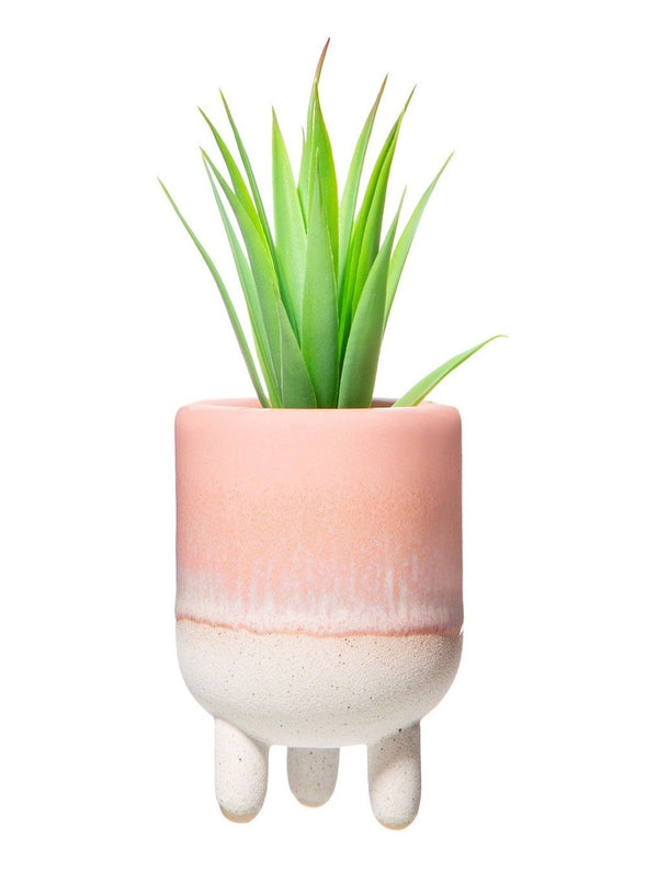 Mojave Glaze Pink Mini Planter