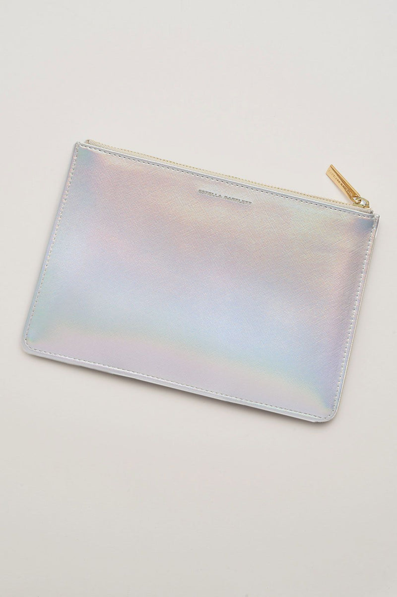 Shine Bright Silver Medium Pouch