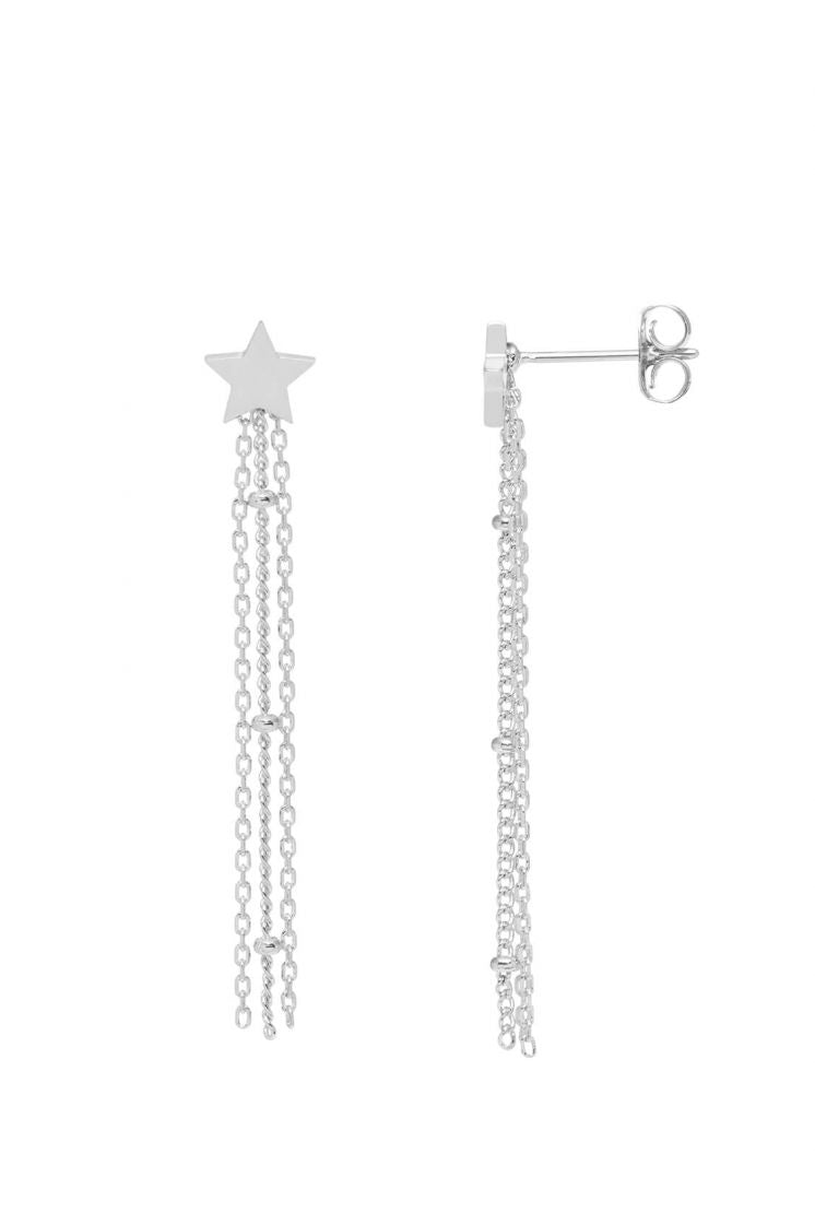 Star Chain Tassle Earrings