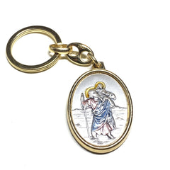 St Christopher Keyring