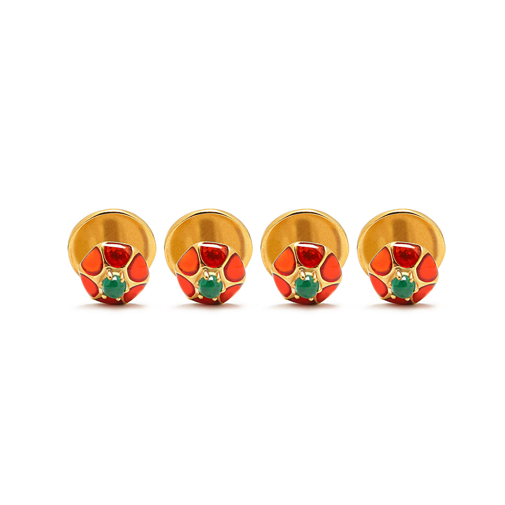 Enamel and Gold Kurta Buttons