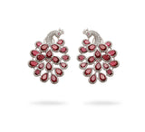 Peacock Earrings Ruby
