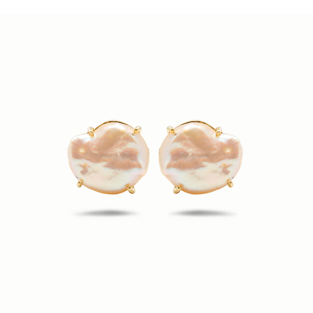 Pearl & Rose gold cufflinks