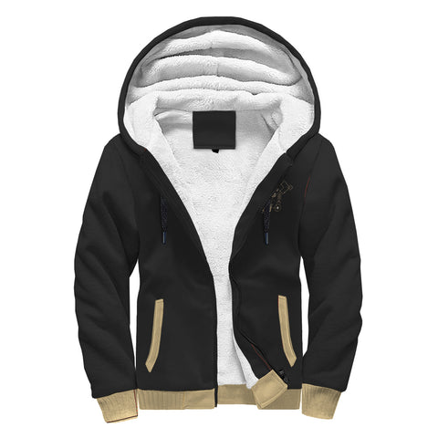 Skull Design Sherpa Lined Zip Up Hoodie - TipsyPrint.com