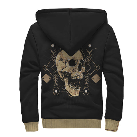 Image of Skull Design Sherpa Lined Zip Up Hoodie - TipsyPrint.com