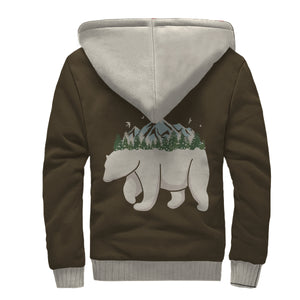 Polar Bear Mountain Sherpa Lined Zip Up Hoodie - TipsyPrint.com