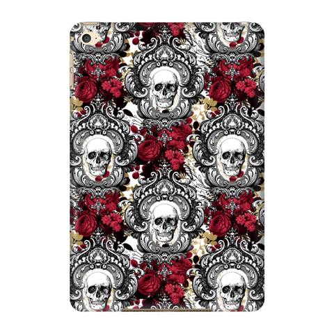 Gothic Skull with Red Roses iPad 3/4 and Mini 1 and 4 Shell Case - TipsyPrint.com