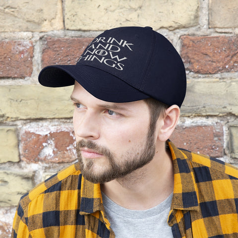 Image of I Drink And Know Things Unisex Twill Hat - TipsyPrint.com
