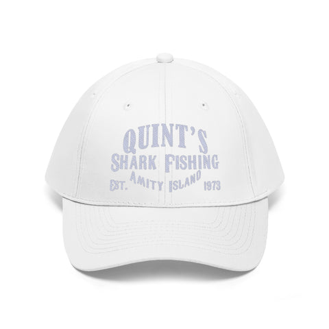 Quint's Shark Fishing Amity Island Embroidered Unisex Twill Hat - TipsyPrint.com