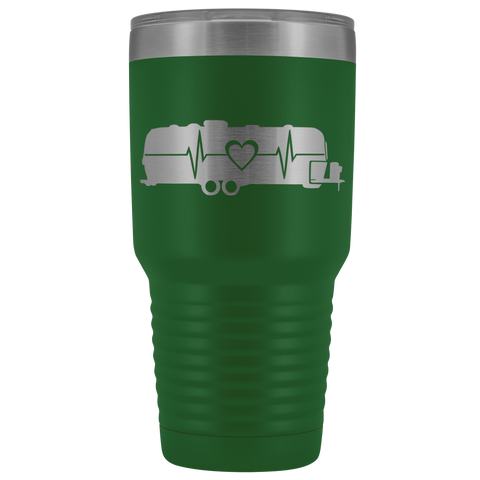 Airstream Heartbeat RV 30 Ounce Stainless Steel Tumbler - TipsyPrint.com