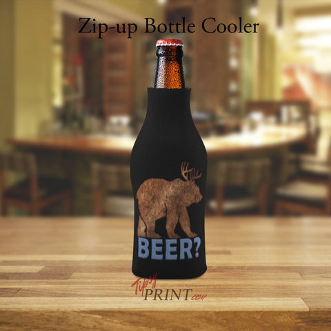 Image of Beer Bear Zipper Bottle Cooler - TipsyPrint.com