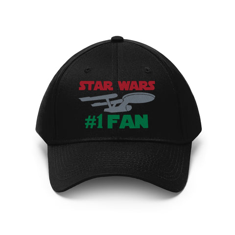 Star Wars #1 Fan Funny Star Trek Mix Unisex Twill Hat - TipsyPrint.com