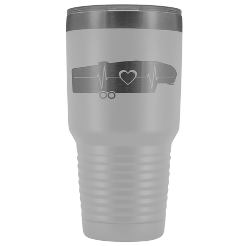 RV 5th Wheel Trailer Heartbeat 30 Ounce Stainless Steel Tumbler - TipsyPrint.com