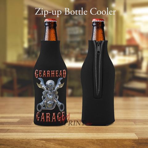 Image of Gearhead Garage Zipper Bottle Cooler - TipsyPrint.com