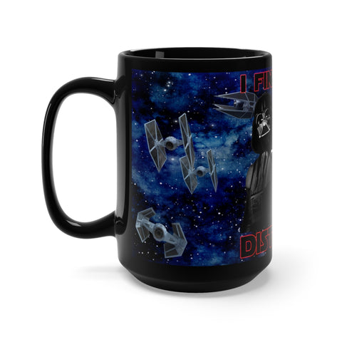 Darth Vader, I Find Your Lack Of Faith Disturbing Star Wars Black Mug 15oz - TipsyPrint.com