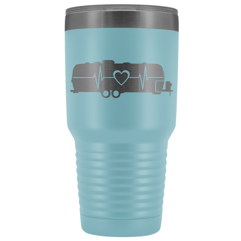 Image of Airstream Heartbeat RV 30 Ounce Stainless Steel Tumbler - TipsyPrint.com