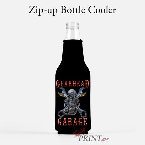 Gearhead Garage Zipper Bottle Cooler - TipsyPrint.com