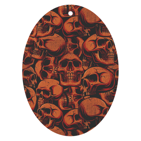 Red Skulls Pack of 3 Air Fresheners - TipsyPrint.com