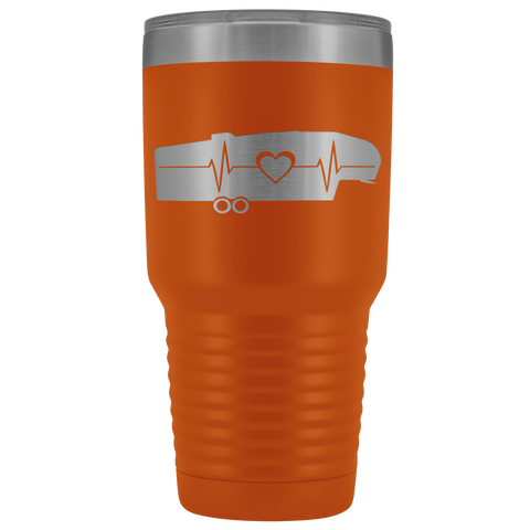 Image of RV 5th Wheel Trailer Heartbeat 30 Ounce Stainless Steel Tumbler - TipsyPrint.com