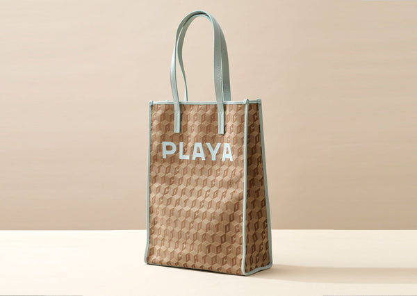 SHOPPER TOTE CORTO X LUCY FOLK / PLAYA RACER STRIPES