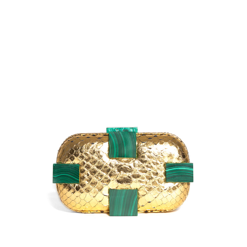 SUSAN SHOCK GOLD/MALACHITE