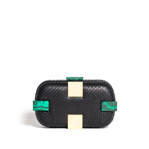SUSAN SHOCK BLACK/MALACHITE & GOLD
