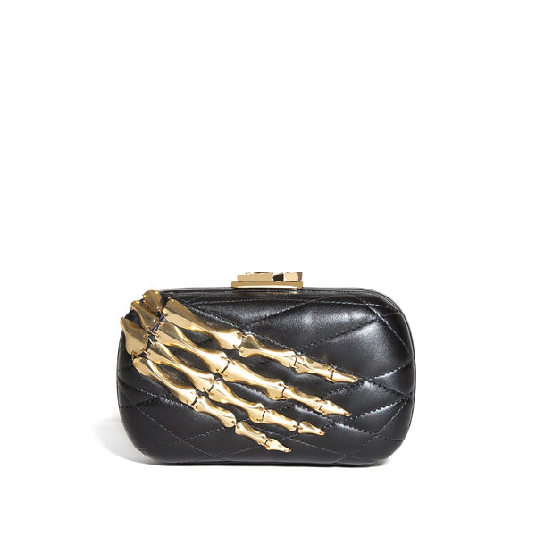 SUSAN C STAR SKELETON HAND/NAPPA BLACK