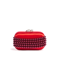 SUSAN C STAR ELASTIC RED PEARL/RED SATIN