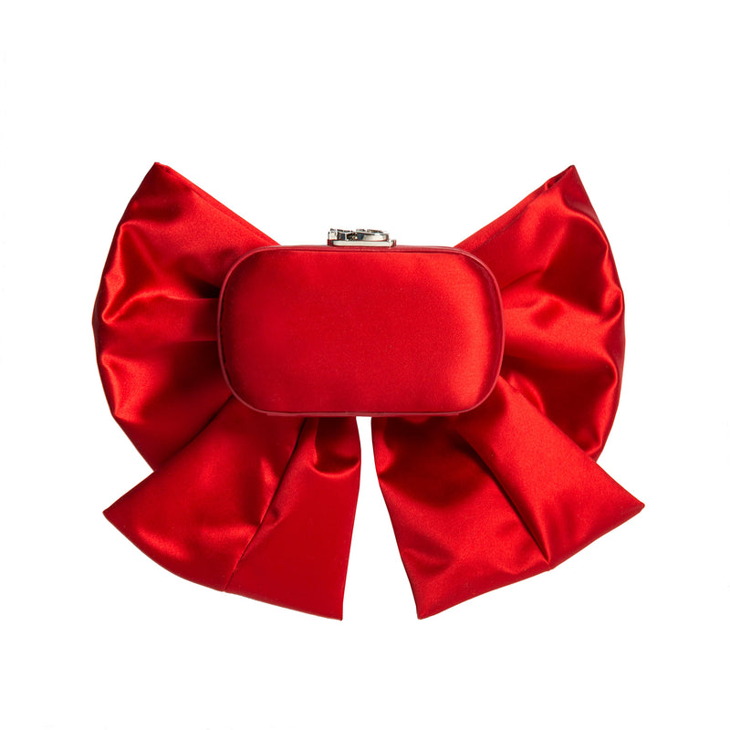SUSAN MASSIVE BOW RED SATIN