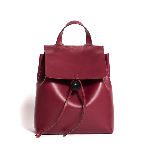 BACKPACK ROSE M VITELLO BURGUNDY