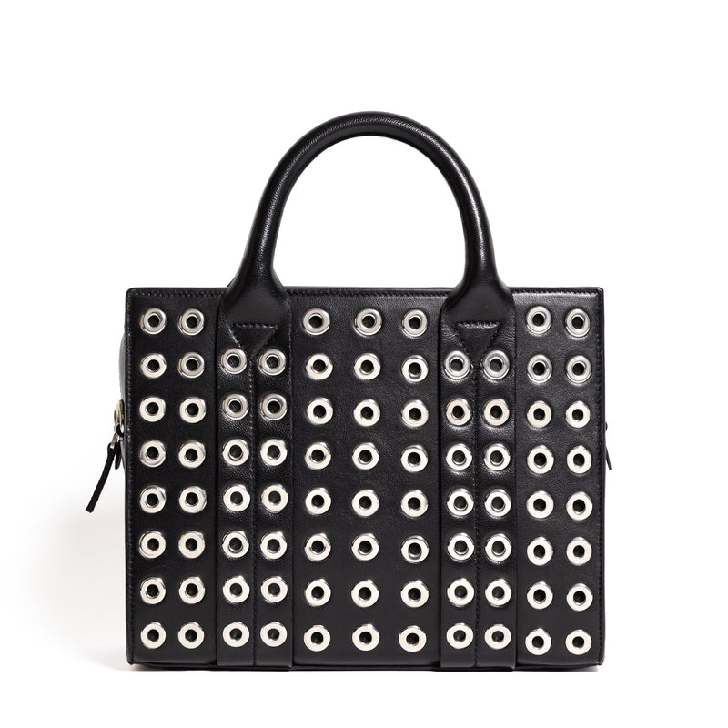 COSTANZITA VITELLO BLACK/EYELETS