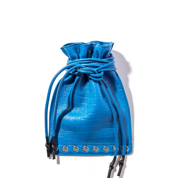 SWEET BAG VIT CROCO BLUE