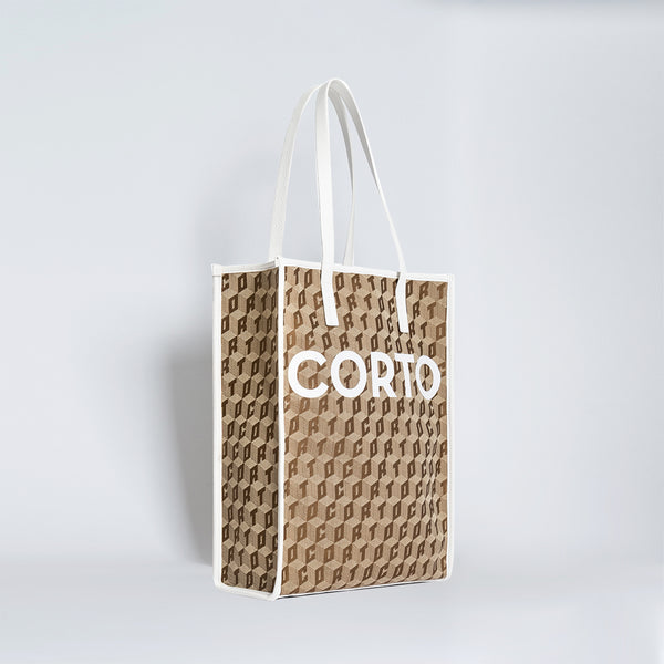 SHOPPER TOTE CORTO/LUXOR CL/GOAT WHITE
