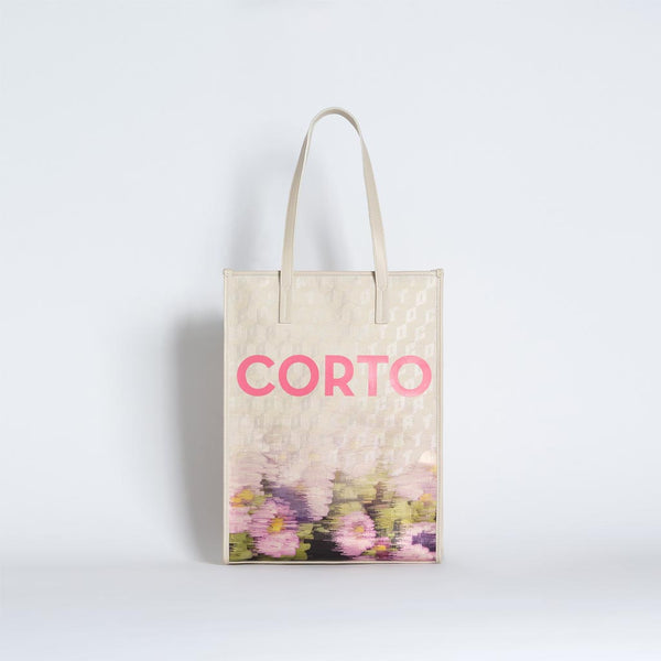 SHOPPER TOTE FADED FLOWERS