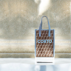 SHOPPER TOTE MEDIUM CLASSIC LUXOR VIT CLOUD/CORTO BABY BLUE