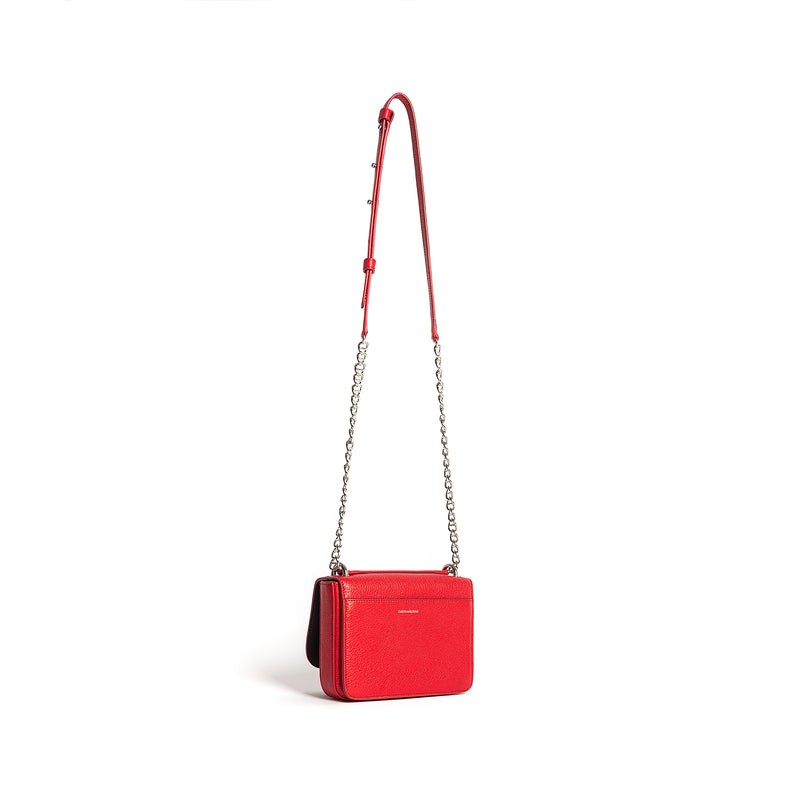 AURELIA SHOULDER BAG GOAT RED BRAISE