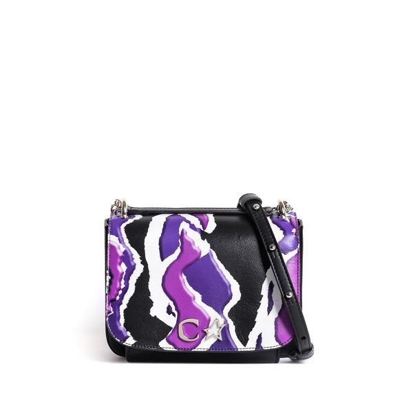 AURELIA SHOULDER BAG 80'S BLACK PRINT