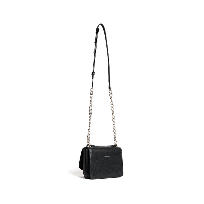 AURELIA SHOULDER BAG GOAT BLACK
