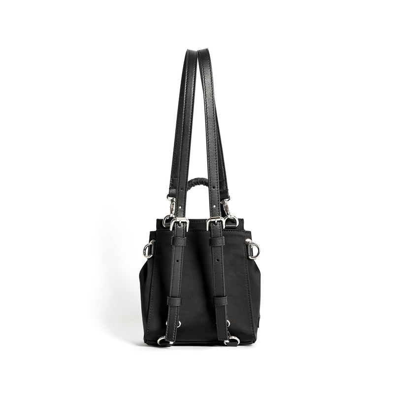 PRISCILLA MINI BACKPACK SATIN SHINE BLACK