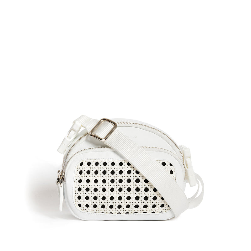 BENTOTA WHITE LEATHER BELT BAG