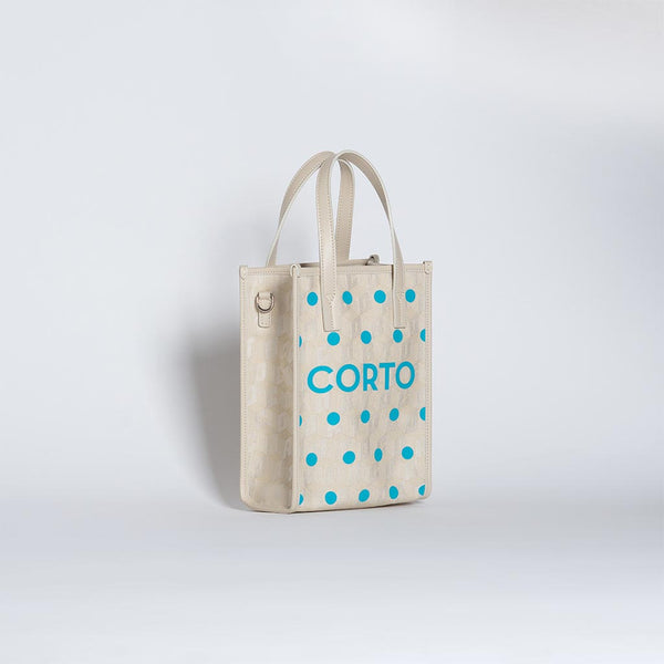 SHOPPER TOTE MEDIUM POLKA