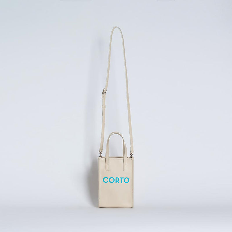 SHOPPER TOTE MEDIUM CREAM VITELLO