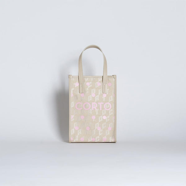 SHOPPER TOTE MEDIUM PINK POLKA