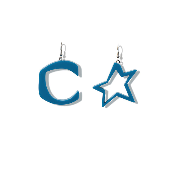 C STAR BLUE EARRINGS