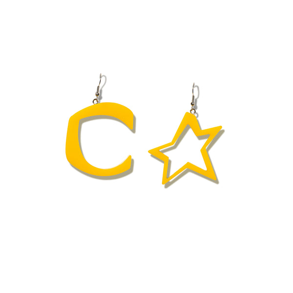 C STAR ORANGE EARRINGS