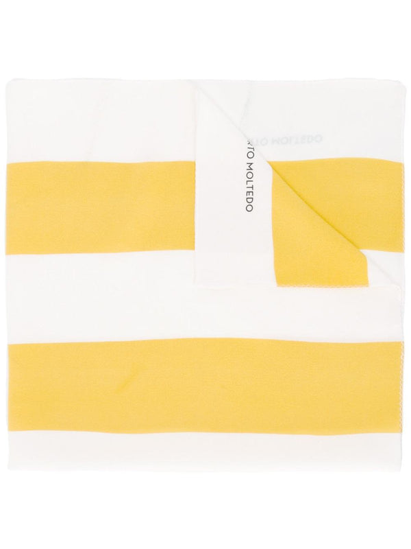 FOULARD STRIPES WHITE YELLOW