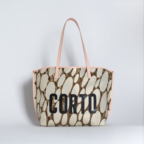 JENNY EAST WEST TOTE LUXOR GD/CORTO BLACK/VIT ROSE CARRARA BRIGHT