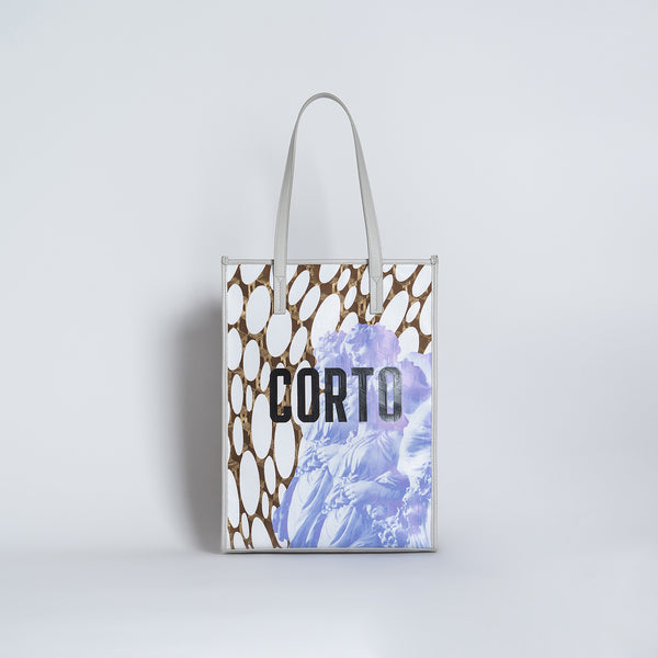SHOPPER TOTE NEW LUXOR GD/CORTO BLACK/VIT GREYS GIRLS