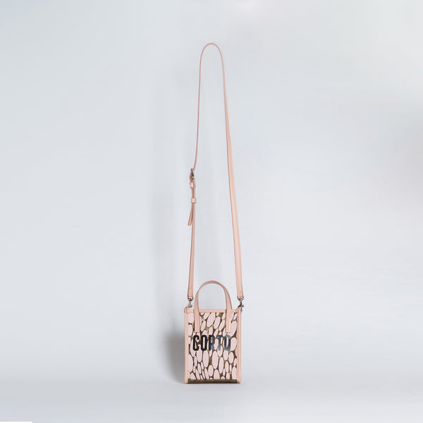 SHOPPER TOTE MINI  LUXOR GD/CORTO BLACK/VIT CARRARA ROSE